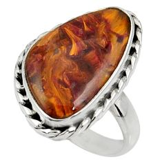 12.96cts natural pietersite (african) 925 silver solitaire ring size 8 r28181