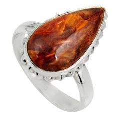 8.31cts natural pietersite (african) 925 silver solitaire ring size 8 r28197