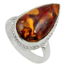 10.96cts natural pietersite (african) 925 silver solitaire ring size 8 r28202