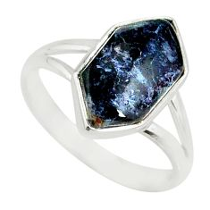 5.47cts natural pietersite (african) 925 silver solitaire ring size 8 r80194