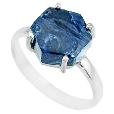 5.13cts natural pietersite (african) 925 silver solitaire ring size 8 r82026