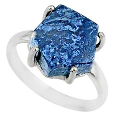 5.13cts natural pietersite (african) solitaire 925 silver ring size 6 r82032