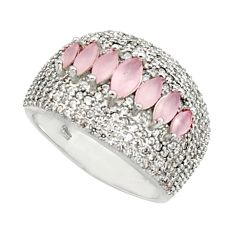 7.51cts natural pink chalcedony topaz 925 sterling silver ring size 7 c9931
