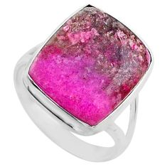 14.68cts natural pink cobalt calcite 925 sterling silver ring size 9.5 r66052