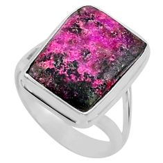 7.97cts natural pink cobalt calcite 925 sterling silver ring size 6 r66053