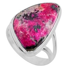 12.10cts natural pink cobalt calcite 925 sterling silver ring size 6 r66055