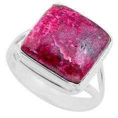 12.60cts natural pink cobalt calcite 925 sterling silver ring size 8 r66045