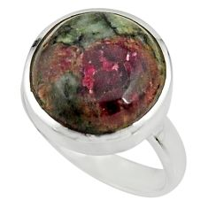 14.26cts natural pink eudialyte 925 silver solitaire ring size 8.5 r26488