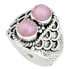 2.42cts natural pink kunzite 925 sterling silver ring jewelry size 7 r19179