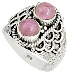 2.40cts natural pink kunzite 925 sterling silver ring jewelry size 8 r19175