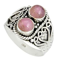2.50cts natural pink kunzite 925 sterling silver ring jewelry size 9 r19178