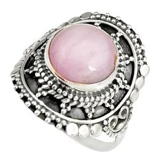 5.75cts natural pink kunzite 925 sterling silver solitaire ring size 8.5 r19465