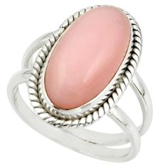 6.20cts natural pink opal 925 sterling silver ring jewelry size 8.5 r42244