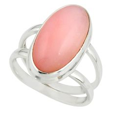 6.19cts natural pink opal 925 sterling silver ring jewelry size 7 r42243