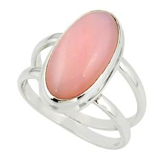 6.49cts natural pink opal 925 sterling silver ring jewelry size 8 r42241