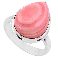 9.18cts natural pink opal 925 sterling silver solitaire ring size 7 r66167