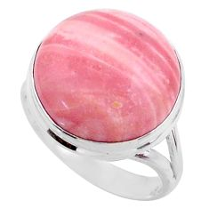 12.62cts natural pink opal 925 sterling silver solitaire ring size 8 r66168