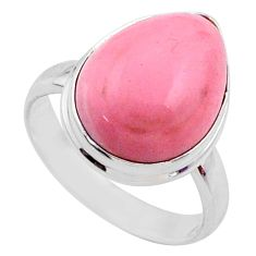9.96cts natural pink opal 925 sterling silver solitaire ring size 8 r66173