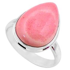 12.58cts natural pink opal 925 sterling silver solitaire ring size 9 r66166