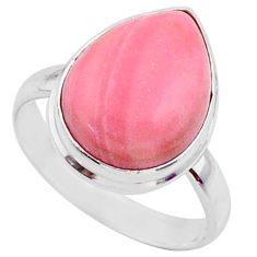 10.02cts natural pink opal 925 sterling silver solitaire ring size 9 r66171