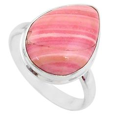 12.22cts natural pink opal 925 sterling silver solitaire ring size 9 r66181