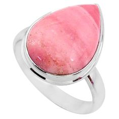 11.73cts natural pink opal 925 sterling silver solitaire ring size 9 r66187