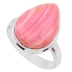 12.18cts natural pink opal 925 sterling silver solitaire ring size 9 r66188