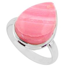 12.18cts natural pink opal 925 sterling silver solitaire ring size 9 r66192