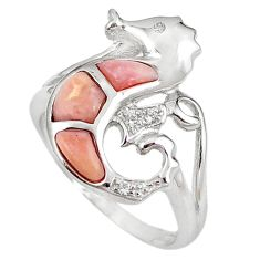 Natural pink opal topaz 925 sterling silver ring jewelry size 7.5 a59105 c15190
