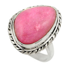 11.93cts natural pink petalite 925 silver solitaire ring jewelry size 7 r28442