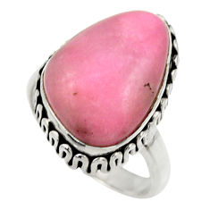 10.58cts natural pink petalite 925 silver solitaire ring jewelry size 7 r28472