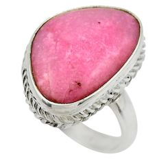 13.47cts natural pink petalite 925 silver solitaire ring jewelry size 8 r28466
