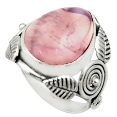 9.39cts natural pink rose quartz 925 silver solitaire ring jewelry size 6 r22746