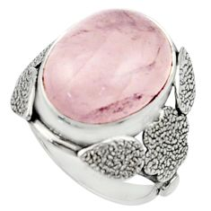 9.72cts natural pink rose quartz 925 silver solitaire ring jewelry size 6 r22749