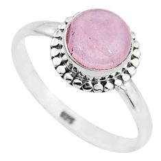 3.14cts natural pink rose quartz 925 silver solitaire ring jewelry size 9 t6016