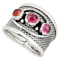 2.50cts natural pink tourmaline 925 sterling silver ring jewelry size 7 d45946