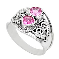 1.63cts natural pink tourmaline 925 sterling silver ring jewelry size 7 t44870