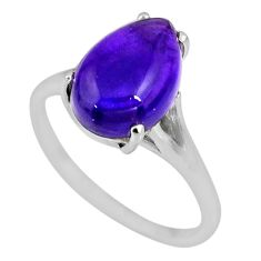 6.09cts natural purple amethyst 925 silver solitaire ring jewelry size 9 r53966
