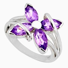 7.97cts natural purple amethyst 925 sterling silver ring jewelry size 6.5 d39119