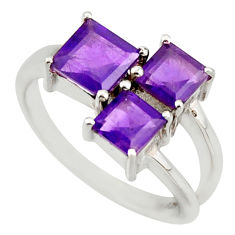 2.92cts natural purple amethyst 925 sterling silver ring jewelry size 7.5 d46370