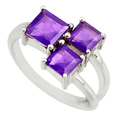 3.07cts natural purple amethyst 925 sterling silver ring jewelry size 6.5 d46405