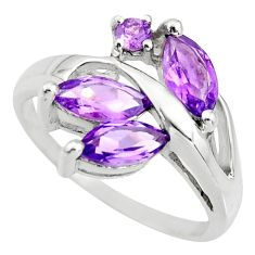 6.22cts natural purple amethyst 925 sterling silver ring jewelry size 7.5 r25482