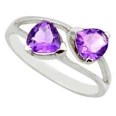 2.71cts natural purple amethyst 925 sterling silver ring jewelry size 7.5 r25622