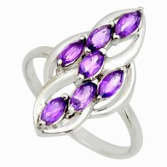 2.61cts natural purple amethyst 925 sterling silver ring jewelry size 7.5 r25746