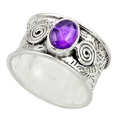 2.06cts natural purple amethyst 925 sterling silver ring jewelry size 8.5 r44289