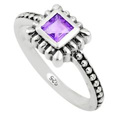 0.55cts natural purple amethyst 925 sterling silver ring jewelry size 8.5 r45742