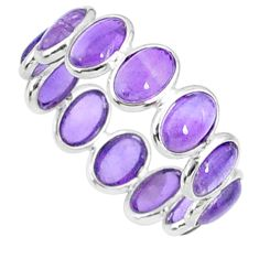 6.87cts natural purple amethyst 925 sterling silver ring jewelry size 6 r88409