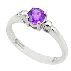 Natural purple amethyst 925 sterling silver ring jewelry size 7 c22281