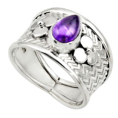 2.09cts natural purple amethyst 925 sterling silver ring jewelry size 7 r44285