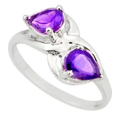 3.51cts natural purple amethyst 925 sterling silver ring jewelry size 8 d46363
